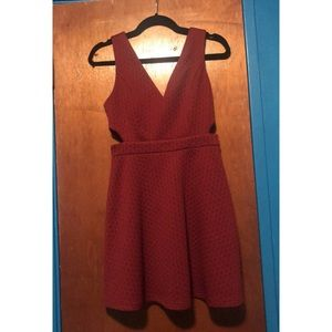 Wine Colored Forever 21 Mini Dress